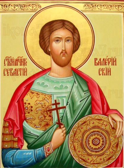Валерий Севастийский (рукописная икона)