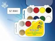 Акварель волшебная 8 цв. с блестк. пластм. упаковка (TZ 8081) (05856)
