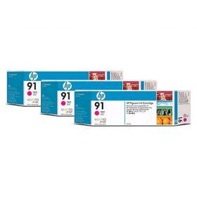 C9484A  Картридж  оригинальный  HP 91 Magenta 3 Ink Multipack