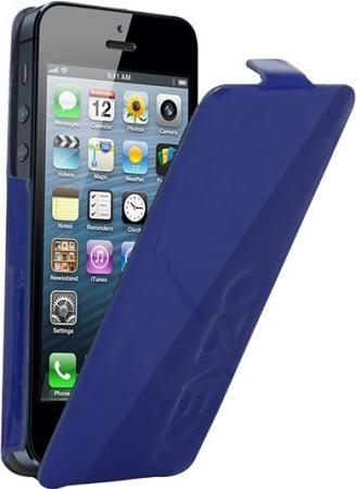 Кожаный чехол для iPhone 5/5s kenzo Glossy (blue)
