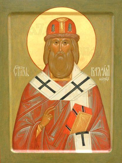Варлаам Махрищский (рукописная икона)