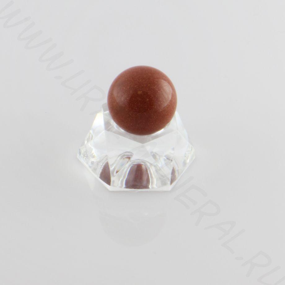 Шар (20 мм) - Авантюрин коричневый