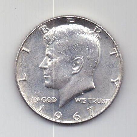 1/2 доллара 1967 года США UNC