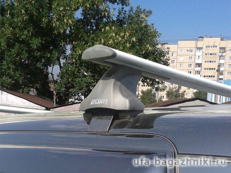 Багажник на крышу Mitsubishi Outlander 3 (без рейлингов), Атлант, крыловидные дуги
