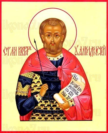 Икона Виктор Халкидонский (рукописная)