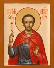 Виктор Коринфский (рукописная икона)
