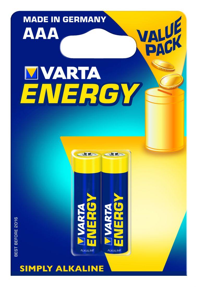 Батарейка ENERGY AAA/LR03 бл 2шт.VARTA 4103213412