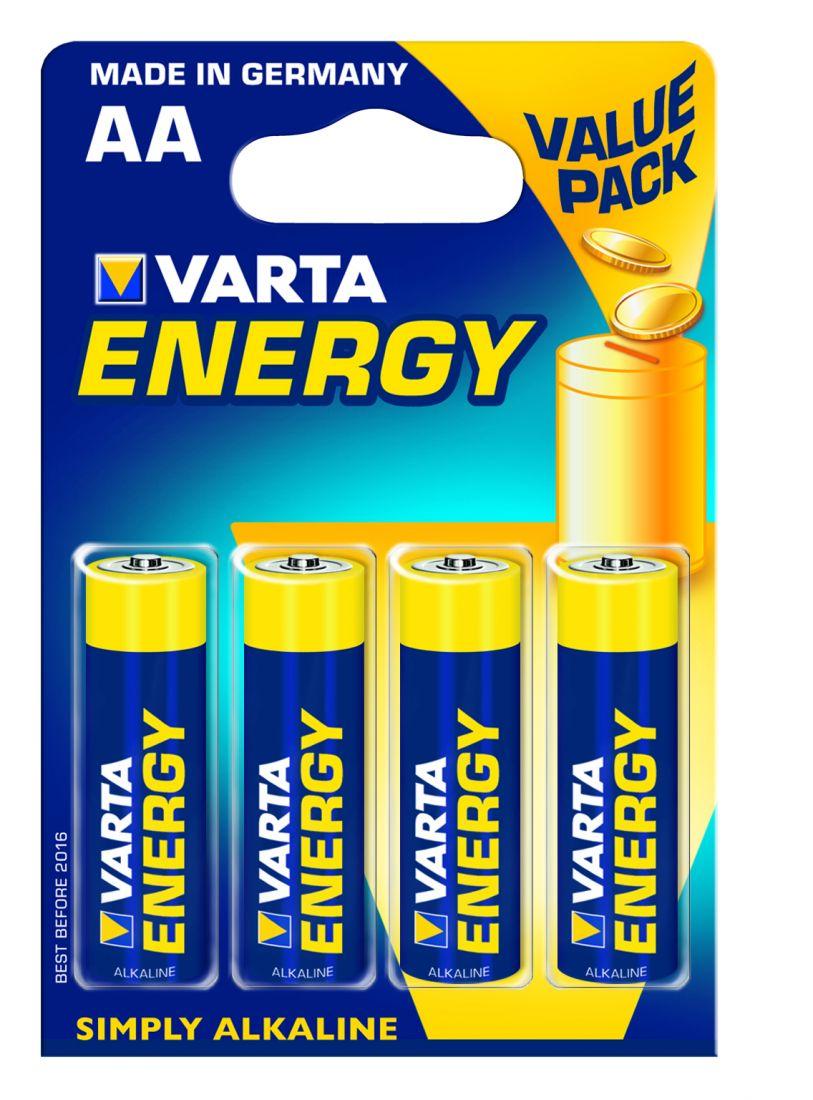 Батарейка ENERGY AA/LR06 бл 4шт.VARTA 4106213414