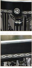 Эмаль черная с патиной серебро