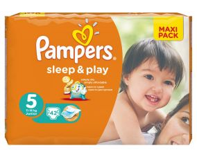 Подгузники sleep & play Pampers ( 11-18кг) , 42шт
