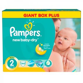 Подгузники Pampers New Baby-Dry Mini (3-6 кг) 144 шт.