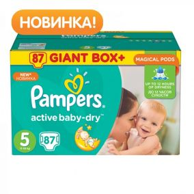Подгузники Pampers Active Baby-Dry Junior (11-18 кг) 87 шт.