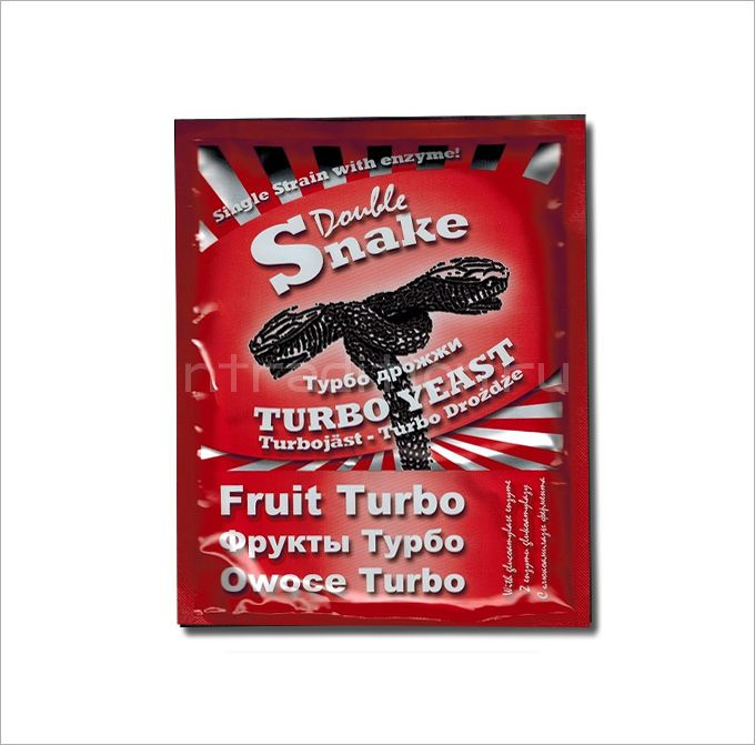 Турбо дрожжи DoubleSnake Fruit Turbo, для фруктовых браг, на 25 л (Великобритания)