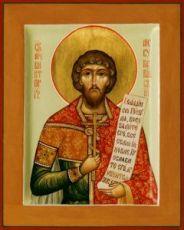 Виктор Месукевийский (рукописная икона)