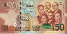 Банкнота Гана 50 седи 2015 год