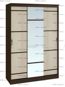 Шкаф-купе 3-дверный Сакура (Спальня) 150х61х222