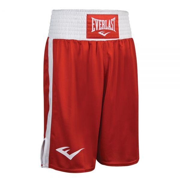 Шорты боксерские Everlast Elite, красно-белые, артикул 3652 RD/WH
