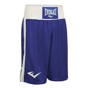 Шорты боксерские Everlast Elite, сине-белые, артикул 3652 BL/WH