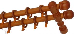 Карниз деревянный ДК 21 вишня