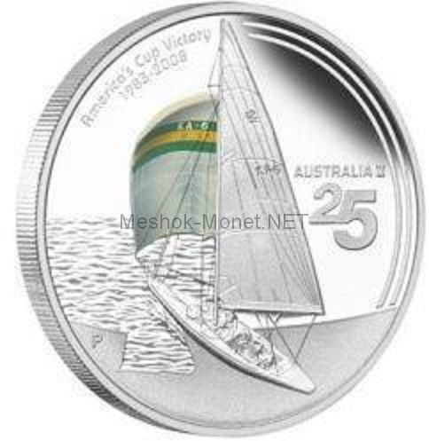 1 доллар Австралия 2008 года. 25 лет победы в Парусной регате