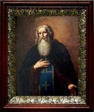 Агапит Печерский (19х22), темный киот