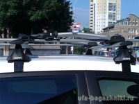 Багажник на крышу LADA XRay, Атлант, крыловидные аэродуги