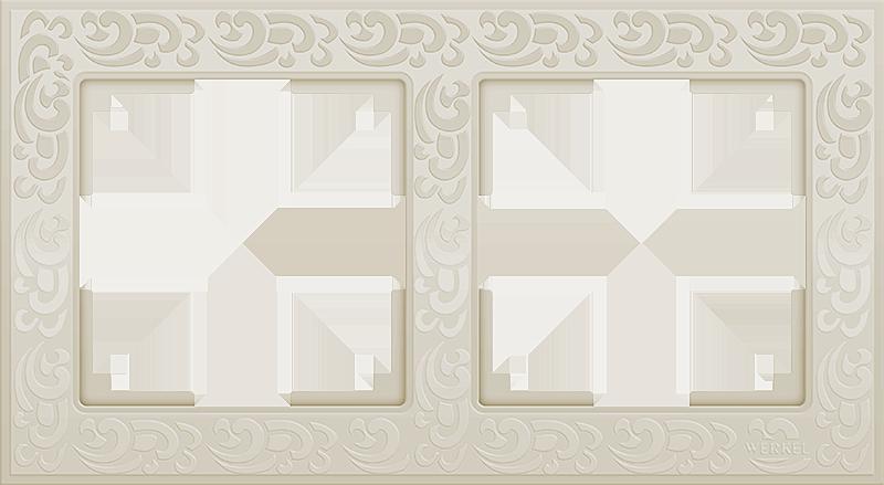 Рамка 2п WL05-Frame-02(слоновая кость)
