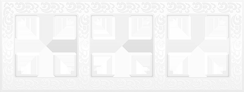 Рамка 3п WL05-Frame-03(белый)