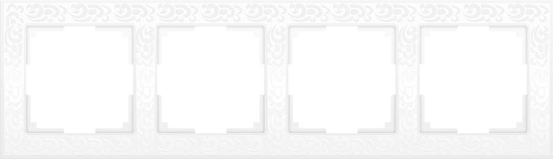 Рамка 4п WL05-Frame-04(белый)