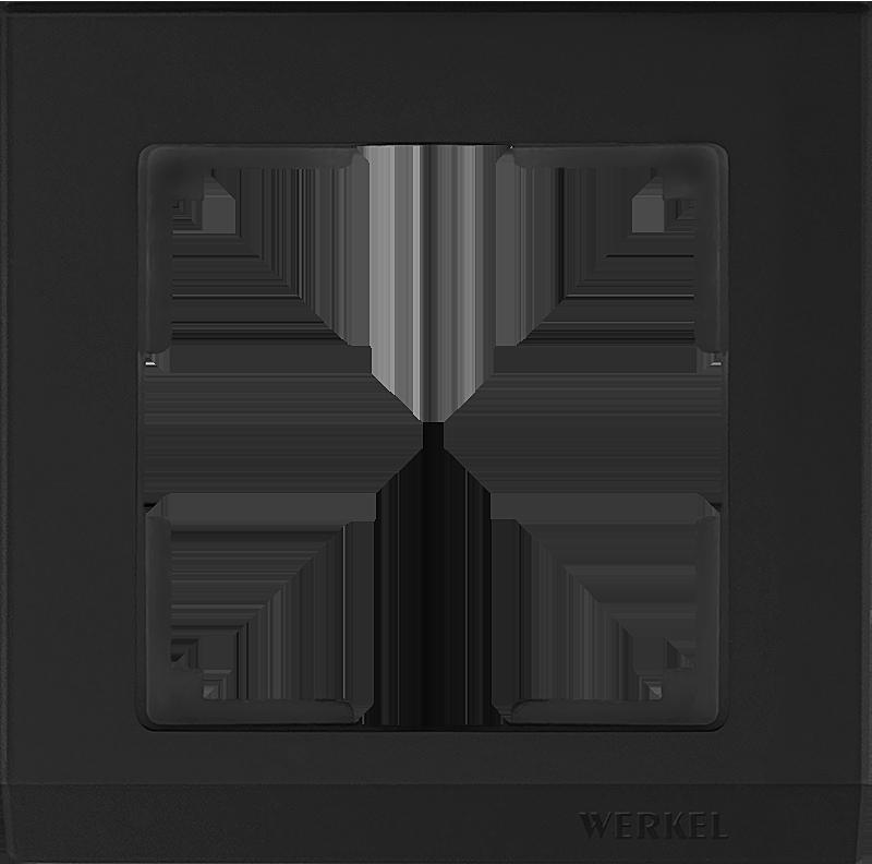 Рамка WERKEL 1п.черный WL04-Frame-01
