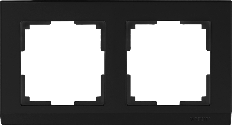 Рамка WERKEL 2п.черный WL04-Frame-02