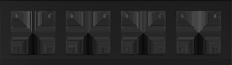 Рамка WERKEL 4п.черный WL04-Frame-04