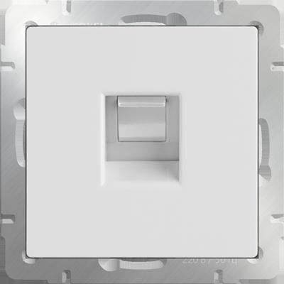 Розетка WERKEL телефон.белая WL01-RJ-11