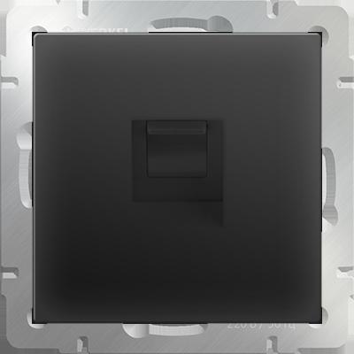 Розетка WERKEL телефон. RJ-11 WL08 черн.