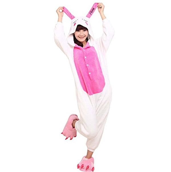 Пижама Кигуруми Кролик Розовый_01