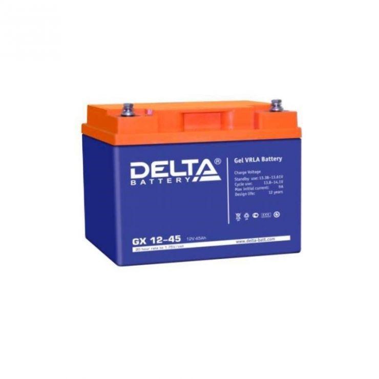 Аккумулятор свинцово-кислотный АКБ DELTA (Дельта) GX 12-45 12 Вольт 45 Ач (Gel)