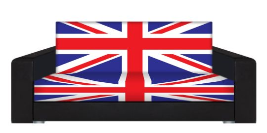 "Диван-книжка фото-принт ""Британский флаг 8"""