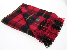 Легкий шотландский плед, тартан клана Уоллес (Храброе сердце) WALLACE MODERN TARTAN , плотность 6