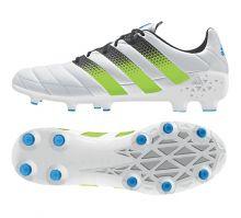 Кожаные бутсы adidas Ace 16.1 Leather FG/AG белые