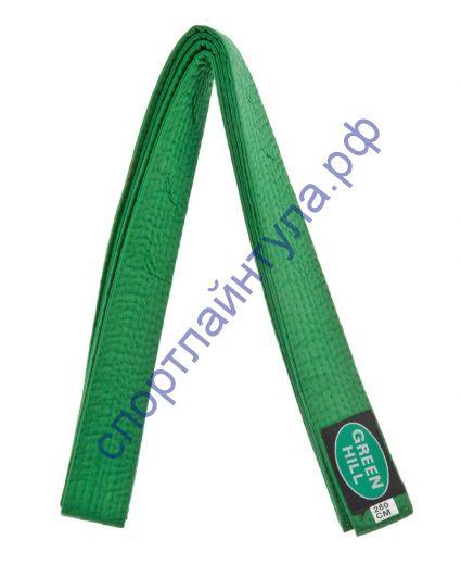 Пояс для кимоно GREEN HILL зелёный 280 см