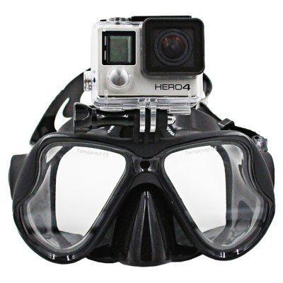Маска для подводного плавания с креплением для Экшн камер XRS-GP289 (GoPro /SJcam /Xiaomi)