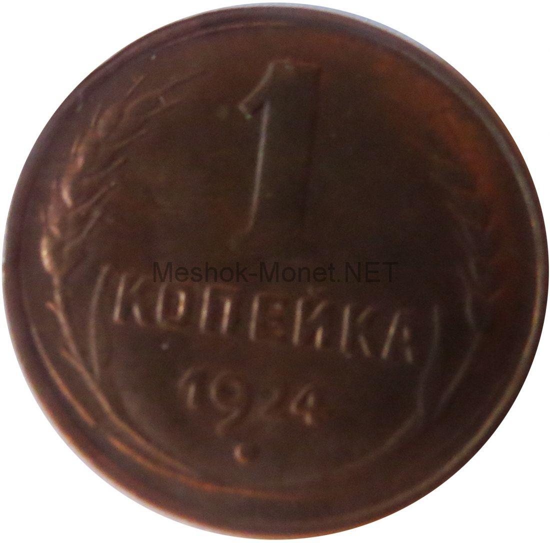 Копия монеты 1 копейка 1924 года. Гурт Гладкий