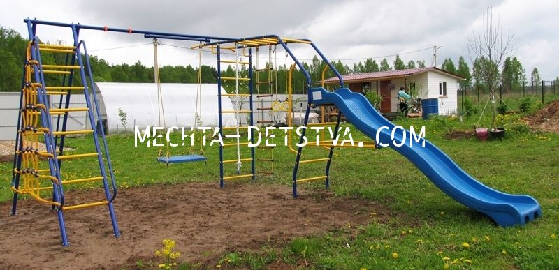 Детский спортивный комплекс «Веселый Непоседа» Модель № 9 с горкой ВАРИАНТ №2