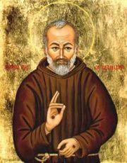 Икона Падре Пио (рукописная)