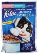 Felix  Двойная вкуснятина Лосось и форель в желе (85 г)