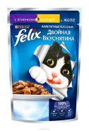 Felix  Двойная вкуснятина Ягненок и курица в желе (85 г)