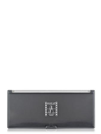 Make-Up Atelier Paris Палитра-кейс магнитная для пудры, теней и румян, черная, с прозрачной крышкой