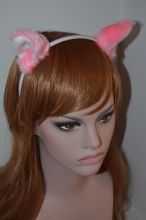 Ушки розовые с белым / Ears pink and white
