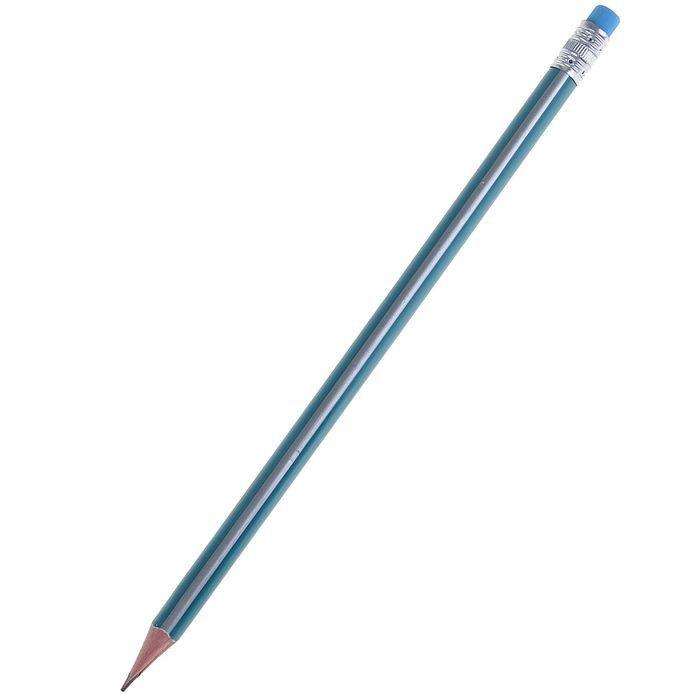 Чернографитный карандаш с ластиком Точность (заточенный)