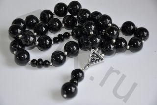 Четки из черного Агата (33 бусины)
